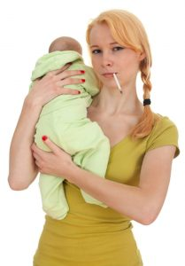 how long after smoking can I breastfeed my baby